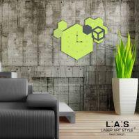 Orologio da appendere tema geometrico - Laser Art Style