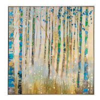 Quadro Acrilico su tela con cornice alberi - L'Oca Nera