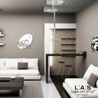 Orologio da muro stilizzato con cuori - Laser Art Style