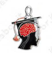 Ciondolo cervello - Bomboniera laurea