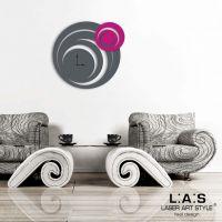 Orologio circolare da parete astratto - Laser Art Style