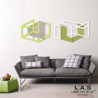 Due pannelli laser moderni in tema geometrico - Laser Art Style