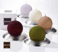 Bomboniera porta candele ATMOSFERA in resina e argento - Argenesi