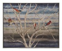 Quadro con cornice rami e uccelli - L'Oca Nera