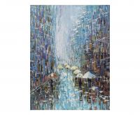 Quadro Acrilico su tela tema pioggia - L'Oca Nera