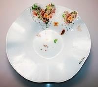 Piatto in vetro butterfly - 38cm - Gai Mattiolo