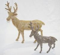 Addobbo a renna color oro e argento