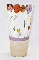 Portaombrello con decoro floreale - ceramica