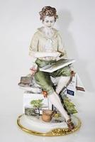 Acquerellista - porcellana di capodimonte