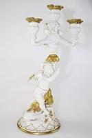 Candeliere con angelo - porcellana di capodimonte