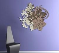 Quadro floreale dal design astratto - Laser Art Style