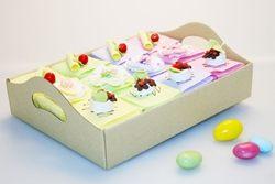 Scatole portaconfetti a dolcetti - 12 pezzi