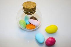 Bomboniera - Boccetta in vetro con tappo in sughero porta confetti
