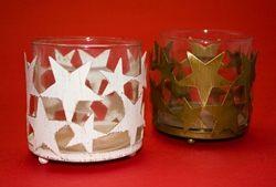 Bicchieri portacandele con stelline