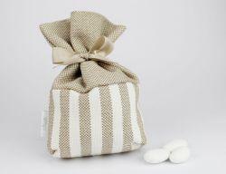 Sacchettino porta confetti righe linea ISCHIA - bomboniera matrimonio / Comunione