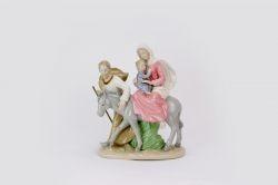 Sacra famiglia in porcellana