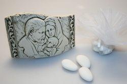 Bomboniera - Icona con sacra famiglia e saccoccino