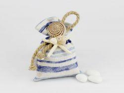 Sacchetto porta confetti in tema marino CAPRI Matrimonio - Joel