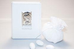 Bomboniera - Vangelo con maternità in argento