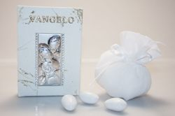 Bomboniera - Vangelo con Sacra Famiglia in argento