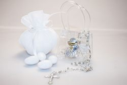 Bomboniera - Bustina con calice e rosario
