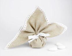 Sacchetto portaconfetti pizzo linea FEDERICA - Matrimonio o Prima Comunione