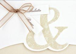 Partecipazioni di nozze fiocchetto