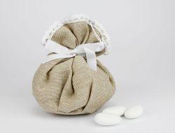 Sacchetto portaconfetti pizzo linea FEDERICA - per Matrimoni o Comunioni