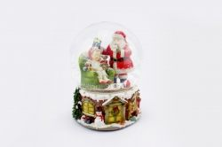 Sfera di vetro Babbo Natale