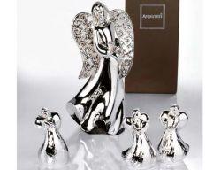 Angelo in resina rivestito d'argento puro - Bomboniere Nozze - Comunione Argenesi