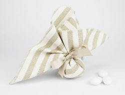 Saccoccino porta confetti righe linea ISCHIA - per Nozze/ Prima comunione