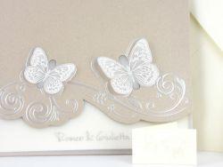 Partecipazione di matrimonio farfalle