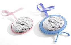 Medaglione per culla - Madonna con bambino Gesù