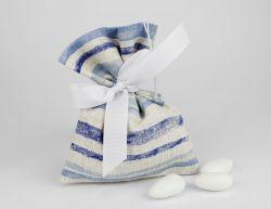 Sacchettino portaconfetti tema marino linea CAPRI - Matrimonio,comunione o battesimo bambino
