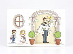 Partecipazioni di nozze famiglia fumetto