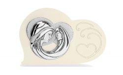 Icona sacra cuore Madonna in argento e retro in legno bomboniere comunione - Memory 2016