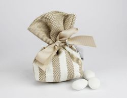 Sacchettino portaconfetti righe linea ISCHIA - per Matrimonio/Prima comunione