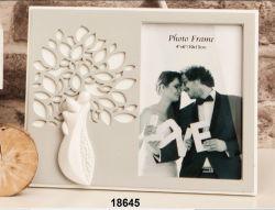 Portafotografia con albero e sposi