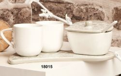 Set tazze caffè con zuccheriera e vassoio