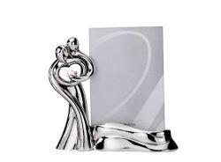 Portafoto sposi stilizzata in resina e argento bomboniera matrimonio - Memory 2016