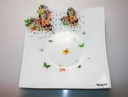 Centrotavola in vetro butterfly - Gai Mattiolo