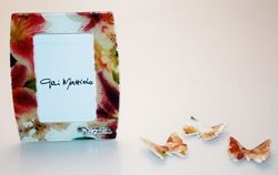Cornice in vetro con decorazione floreale - 6x9cm - Gai Mattiolo