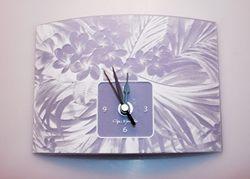 Orologio in vetro fiorato- 21x54cm - Gai Mattiolo