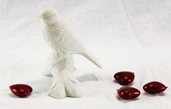 Uccellino green garden- porcellana