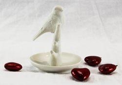 Coppa con uccellino green garden- porcellana