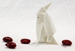 Origami pinguino - porcellana