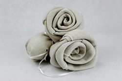 Sciarpa in lino portaconfetti - chiusa due rose