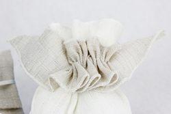 Accessorio in lino per saccoccini e confezioni - avorio o tortora