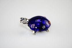 Tartaruga con murrina blu