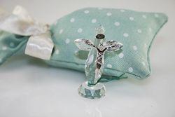 Crocifisso in cristallo e argento